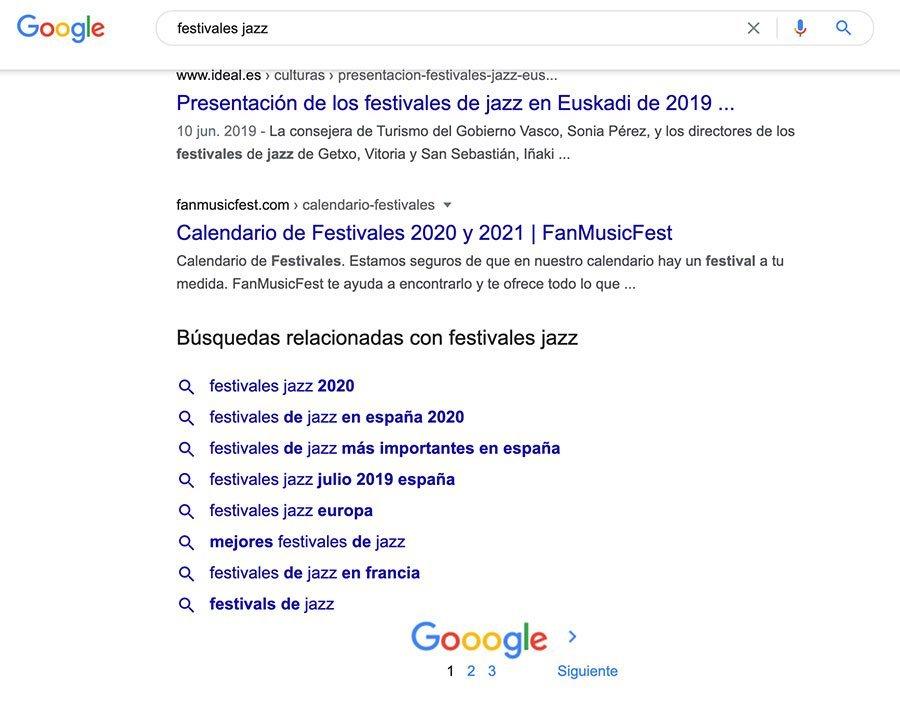 Búsquedas relacionadas de festivales de jazz.